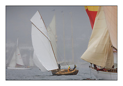 Ayrshire Lass 1887 Gaff Cutter..Sunday race from Largs to Rhu started damp but briefly lifted for a downwind race to the upper Clyde...* The Fife Yachts are one of the world's most prestigious group of Classic .yachts and this will be the third private regatta following the success of the 98, .and 03 events.  .A pilgrimage to their birthplace of these historic yachts, the 'Stradivarius' of .sail, from Scotland's pre-eminent yacht designer and builder, William Fife III, .on the Clyde 20th -27th June.   . ..More information is available on the website: www.fiferegatta.com . .Press office contact: 01475 689100         Lynda Melvin or Paul Jeffes