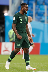 June 26, 2018 - Saint Petersburg, Russia - Bryan Idowu of Nigeria national team reacts during the 2018 FIFA World Cup Russia group D match between Nigeria and Argentina on June 26, 2018 at Saint Petersburg Stadium in Saint Petersburg, Russia. (Credit Image: © Mike Kireev/NurPhoto via ZUMA Press)