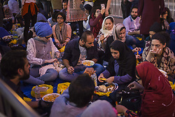 June 1, 2017 - New York, United States - The Muslim community in New York make a demonstration near Trump Tower in Manhattan,  United States on June 1, 2017, during a Iftar dinner. (Credit Image: © Carlos Martinez/NurPhoto via ZUMA Press)
