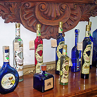 Americas, Mexico, Guanajuato. A variety of locally branded tequilas.