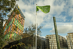 Hale Village, Tottenham Hale, London. Hale Village is an urban village with sustainability and community at its heart. Its facilities, distinctive architecture, green spaces and environmental standing create a new generation of eco-district. 2016