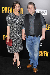 """(L-R) Meredith Salenger and Patton Oswalt arrives at AMC's """"Preacher"""" Season 2 Premiere Screening held at the Theater at the Ace Hotel in Los Angeles, CA on Tuesday, June 20, 2017.  (Photo By Sthanlee B. Mirador) *** Please Use Credit from Credit Field ***"""