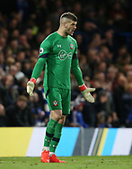 Southampton's Fraser Forster looks on dejected after conceding a fourth goal during the Premier League match at Stamford Bridge Stadium, London. Picture date: April 25th, 2017. Pic credit should read: David Klein/Sportimage
