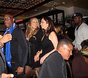 Mariah Carey with one bodyguard infront and another behind..And look at the babydoll dress..Nick Cannon 30th Birthday Party..Lavo Restaurant..New York, NY, USA..Friday, October 08, 2010..Photo ByiSnaper.com/ CelebrityVibe.com..To license this image please call (212) 410 5354; or Email:CelebrityVibe@gmail.com ;.website: www.CelebrityVibe.com.