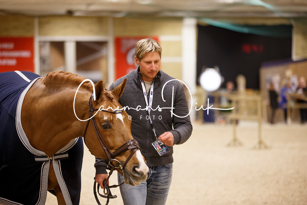 Kittel Patrick, (SWE), Watermill Scandic HBC<br /> Horse Inspection<br /> Reem Acra FEI World Cup Dressage Finals 2016<br /> © Hippo Foto - Dirk Caremans<br /> 24/03/16