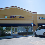 The Special Supplemental Nutrition Program for Women, Infants, and Children (WIC) as well as the Access food stamps building is closed to recipients on Friday, April 3, 2020 in Orlando, Florida. (Alex Menendez via AP)
