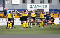 Edinburgh City's Derek Riordan cele scoring their first goal. Forfar Athletic 1 v 2 Edinburgh City, Scottish Football League Division Two played 11/3/2017 at Station Park.