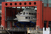 Italy, Lombardy, Lake Como ship in a drydock