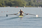 Banyoles, SPAIN,   GBR LW1X, Laura GREENHALGH, moves away from the start, during her heat of the Wonen's Lightweight single Sculls FISA World Cup Rd 1. Lake Banyoles  [ dow} 29/05/2009   [Mandatory Credit. Peter Spurrier/Intersport Images]
