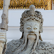 Statue outside Phra Thinang Dusit Maha Prasat, Grand Palace, Bangkok