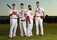 St. Louis Cardinals ALLEN CRAIG MATT HOLIDAY,JASON MOTTE,ADAM WAINRIGHT POSE FOR HOMERS FOR HEALTH<br /> . <br /> ( Photo/Tom DiPace)