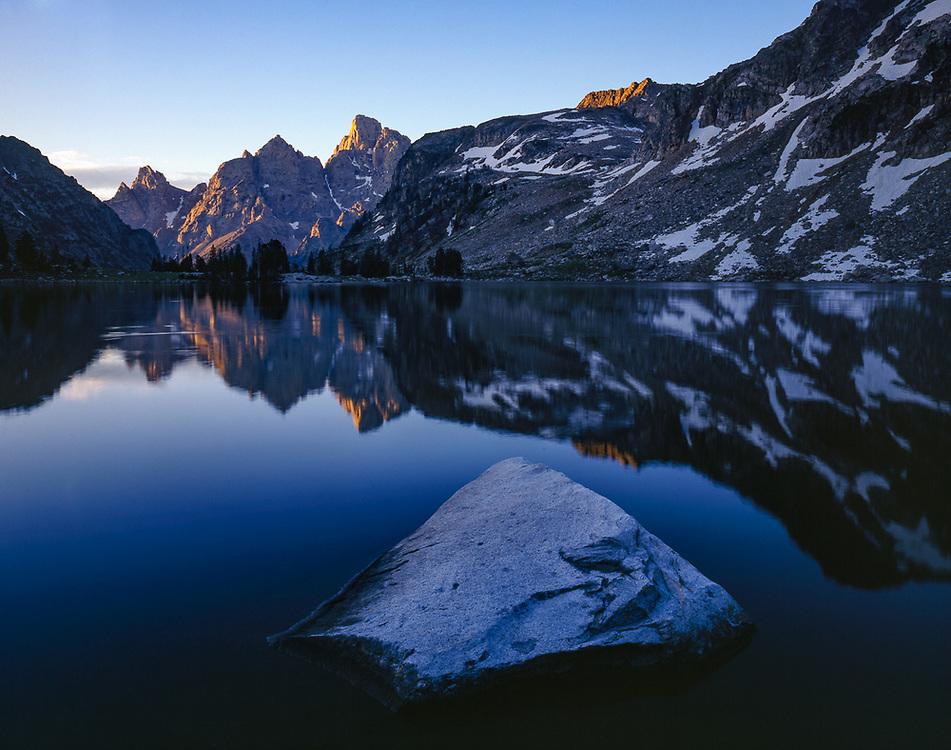 Lake Solitude, morning light, August, Grand Teyon National Park, Wyoming, USA
