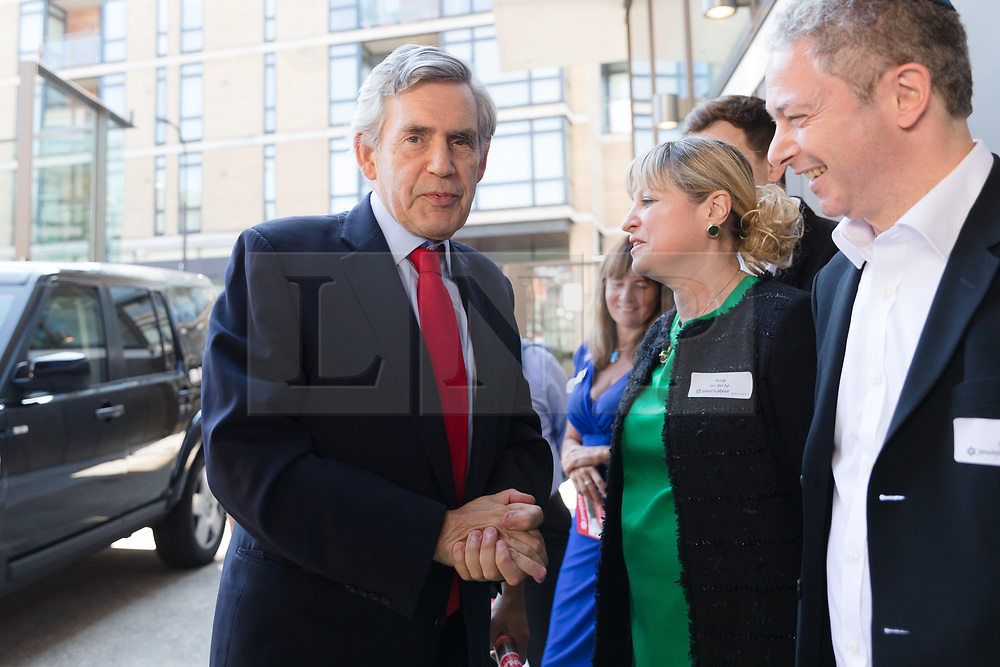 © Licensed to London News Pictures. 02/09/2018. London, UK.  Gordon Brown, former Prime Minister arrives at the Jewish Labour Movement Conference 2018..  Photo credit: Vickie Flores/LNP