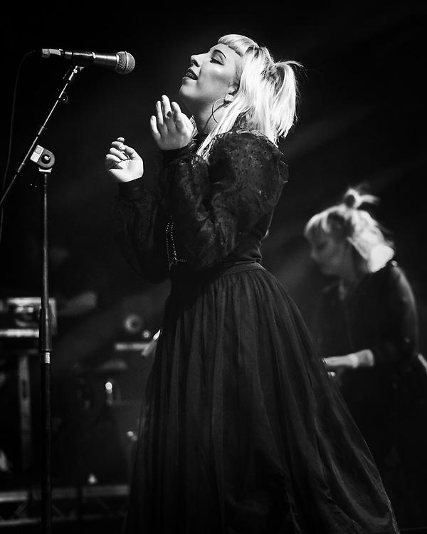 Laufey Soffía and Sólveig Matthildur of Icelandic goth-punk band Kælan Mikla at Iceland Airwaves