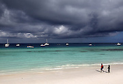 A dramatic sky is photographed in Nungwi, Tanzania.