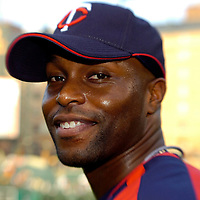 24 August 2007:  Minnesota Twins center fielder Torii Hunter (48) smiles after taking batting practice prior to the game against the Baltimore Orioles.  Hunter hit a two-run home run in the 9th inning as the Twins defeated the Orioles 7-4 at Camden Yards in Baltimore, MD.   ****For Editorial Use Only****