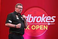 James Wade, 2021 UK Open winner  during the Ladbrokes UK Open Darts 2021 at stadium:mk, Milton Keynes, England. UK on 7 March 2021.