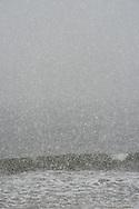 Windswept snow  on the beach, Quogue, Long Island, New York