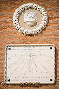 Plaque at the entrance to the Arsenal, Venice, Veneto, Italy