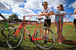 September 22, 2018 - Waterloo, UNITED STATES - Belgian Wout Van Aert and and his wife Sarah De Bie pictured during a training session in preparations for tomorrow's first UCI World Cup cyclocross race of the 2018-2019 cyclocross season in Waterloo (WI), USA, Saturday 22 September 2018. BELGA PHOTO DAVID STOCKMAN (Credit Image: © David Stockman/Belga via ZUMA Press)