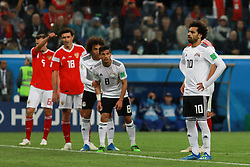 June 19, 2018 - SãO Petersburgo, Rússia - SÃO PETERSBURGO, MO - 19.06.2018: RUSSIA VS EGYPT - Mohamed Salah prepares to hit penalties during the match between Russia and Egypt valid for the 2018 World Cup held at the Zenit Arena in St. Petersburg, Russia. (Credit Image: © Ricardo Moreira/Fotoarena via ZUMA Press)