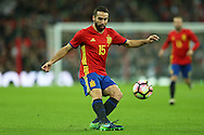 Dani Carvajal of Spain in action. England v Spain, Football international friendly at Wembley Stadium in London on Tuesday 15th November 2016.<br /> pic by John Patrick Fletcher, Andrew Orchard sports photography.