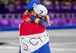 24-02-2018: Olympische Spelen: Dag 15: Pyeongchang<br /> Irene Schouten heeft op de Winterspelen de bronzen medaille gepakt op de massastart. Annouk van der Weijden
