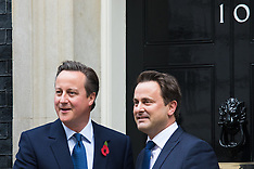 2015-10-27 David Cameron welcomes Luxembourg PM Xavier Bettel to Downing Street.