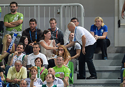 Proposal at Kiss cam during basketball match between National teams of Slovenia and Finland in Round 2 at Day 13 of Eurobasket 2013 on September 16, 2013 in Arena Stozice, Ljubljana, Slovenia. (Photo by Vid Ponikvar / Sportida.com)