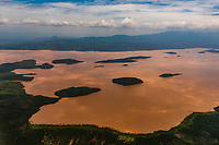 Aerial view of Lake Abaya, near Arba Minch, Ethiopia. One of the two largest Rift Valley lakes.