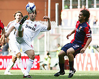 "Mathieu Flamini (Milan) Omar Milanetto (Genoa)<br /> Genova 14/09/2008 Stadio ""Ferraris"" <br /> Campionato Italiano Serie A 2008/2009<br /> Genoa Milan (2-0)<br /> Foto Prater Insidefoto"