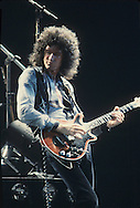 LOS ANGELES, CA - FEBRUARY 14: Brian May of Queen in concert at The Forum on February 14, 1980 in Los Angeles, California.