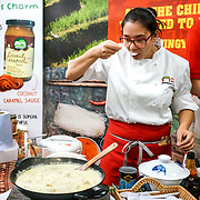 Emma Yip is a chef from Wing Yip Supermarket demo Thai Green Jackfruit Curry in less than ten minutes and you can buy all the ingredients at Wing Yip Supermarket Market Chinatown London at Olympia London on the 21st October 2017