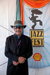 05 May 2013. New Orleans, Louisiana,  USA. <br /> New Orleans Jazz and Heritage Festival. JazzFest.<br /> Music legend Allen Toussaint.<br /> Photo; Charlie Varley