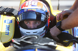 March 10, 2017 - St. Petersburg, Florida, U.S. - DIRK SHADD   |   Times  .IndyCar driver Alexander Rossi gets belted into his car for the IndyCar practice session on the opening day of the Firestone Grand Prix of St. Petersburg. (Credit Image: © Dirk Shadd/Tampa Bay Times via ZUMA Wire)