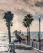 Oceanside Pier During Winter