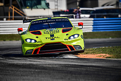 March 14, 2019 - Sebring, Etats Unis - 95 ASTON MARTIN RACING (GBR) ASTON MARTIN VANTAGE AMR GTE PRO MARCO SORENSEN (DNK) NICKI THIIM (DNK) DARREN TURNER  (Credit Image: © Panoramic via ZUMA Press)
