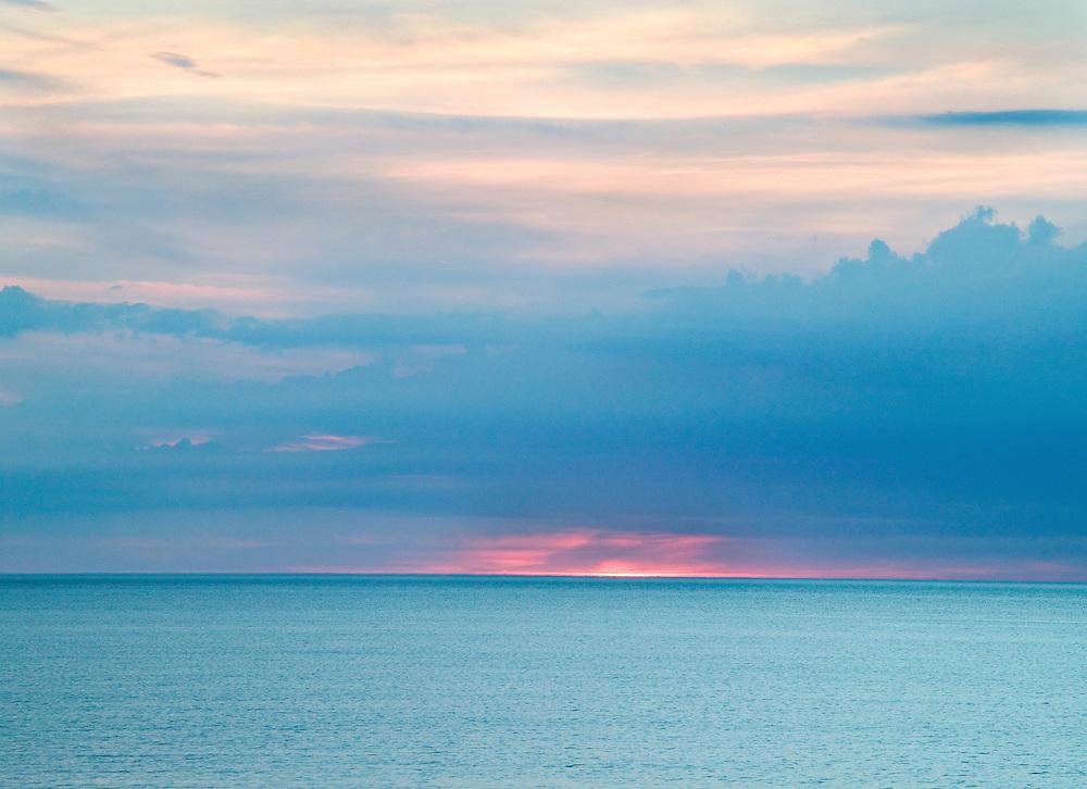 intense sunset on Lake Superior, Upper Peninnsula, Michigan