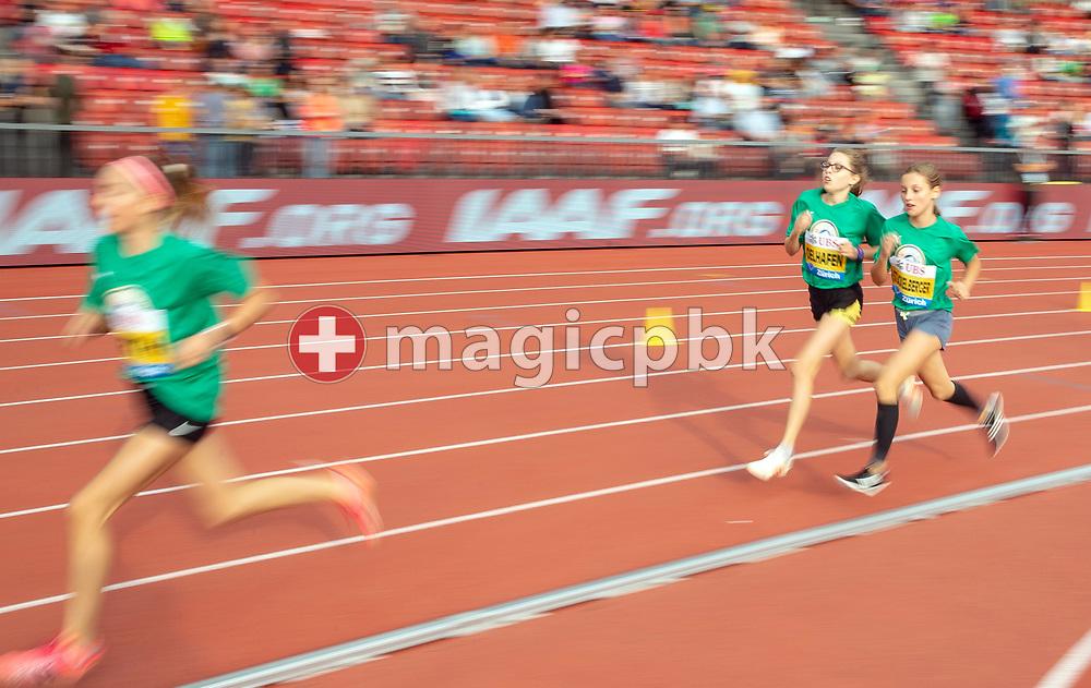 1000m Girls - pursuit race Mille Gruyere during the Iaaf Diamond League meeting (Weltklasse Zuerich) at the Letzigrund Stadium in Zurich, Switzerland, Thursday, Aug. 30, 2018. (Photo by Patrick B. Kraemer / MAGICPBK)