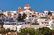Marpissa, Paros, Greece - July 2021: Church Of Marpissa