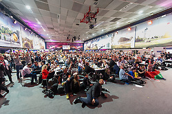 23.05.2015, Stadthalle, Wien, AUT, Eurovision Songcontest Vienna 2015, Pressekonferenz des Gewinners, im Bild Pressezentrum // press centre during winners press conference of the grand final for Eurivision Songcontest Vienna 2015 at Stadthalle in Vienna, Austria on 2015/05/23, EXPA Pictures © 2015, PhotoCredit: EXPA/ Michael Gruber