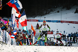 Klemen Bauer (SLO) during the Mixed Relay 2x 6 km / 2x 7,5 km at day 3 of IBU Biathlon World Cup 2019/20 Pokljuka, on January 23, 2020 in Rudno polje, Pokljuka, Pokljuka, Slovenia. Photo by Peter Podobnik / Sportida