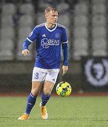 Markus Bay (Fremad Amager) under kampen i 1. Division mellem Fremad Amager og FC Helsingør den 21. oktober 2020 i Sundby Idrætspark (Foto: Claus Birch).