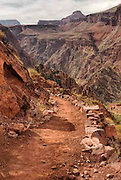 A dirt path leading from the North Rim down into the Grand Canyon. Missoula Photographer