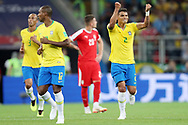 Thiago Silva of Brazil celebrates after his goal during the 2018 FIFA World Cup Russia, Group E football match between Erbia and Brazil on June 27, 2018 at Spartak Stadium in Moscow, Russia - Photo Tarso Sarraf / FramePhoto / ProSportsImages / DPPI