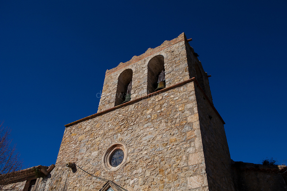 Church in Olivella, Garraf, Catalonia, Spain, built in 1430, renovated in 1607.