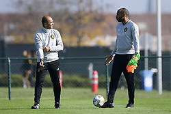 October 9, 2018 - France - Roberto Martinez, manager of the Belgium national football team and Thierry Henry ass. coach of Belgian Team (Credit Image: © Panoramic via ZUMA Press)