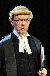 "© Licensed to London News Pictures. 20/10/2017. London, UK. Philip Franks as Mr Myers QC.  Photocall for ""Witness for the Prosecution"", by Agatha Christie, directed by Lucy Bailey, at London County Hall.  The play opens 23 October. Photo credit : Stephen Chung/LNP"
