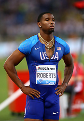 May 31, 2018 - Rome, Italy - Gil Roberts (USA) competes in 400m men during Golden Gala Iaaf Diamond League Rome 2018 at Olimpico Stadium in Rome, Italy on May 31, 2018. (Credit Image: © Matteo Ciambelli/NurPhoto via ZUMA Press)