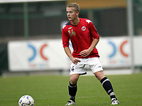 Fotball<br /> Landskamp G15<br /> Sverige v Norge 0:3<br /> Arvika<br /> 23.09.2010<br /> Foto: Morten Olsen, Digitalsport<br /> <br /> Martin Lundal  -  Nardo